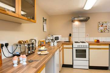 The kitchen area has all you need