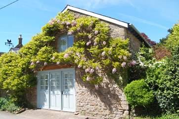 Stylish plantation shutters give you plenty of privacy but plenty of light too.