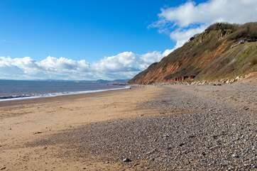 Looking West along the East Devon Jurassic coast.