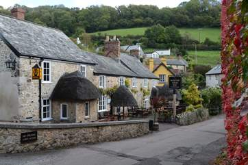 The award-winning Masons Arms is one of two pubs in the long village of Branscombe.