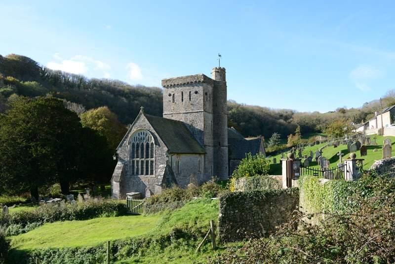 Branscombe's parish church, Saint Winifred's.