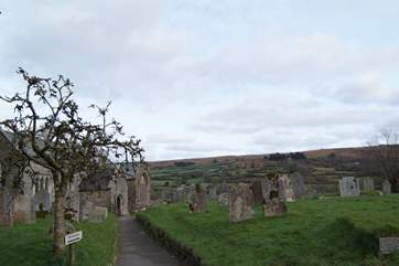 The village is in its own little valley with the moors sloping up and away in all directions.
