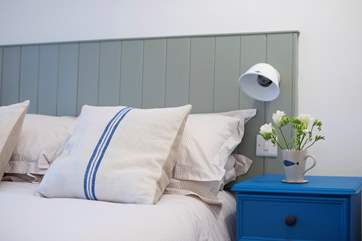 Clever little bedside lights.