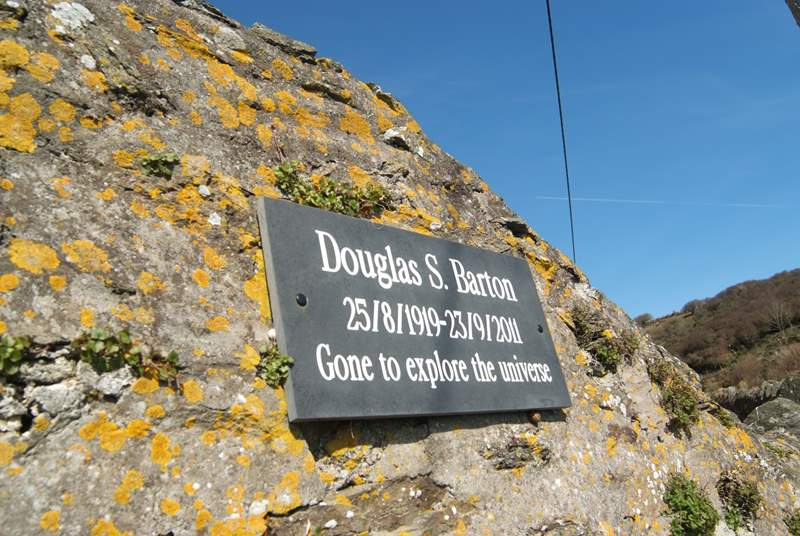 A memorial plaque above one of the coastal footpath benches...what a lovely epitaph!