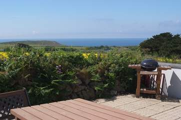 Sea views from the terrace,