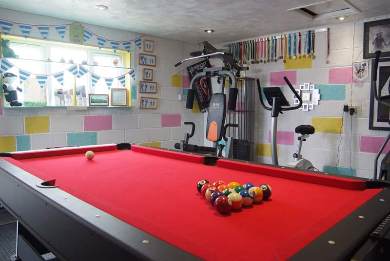 Pool, air hockey and table football all in one.
