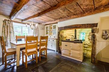 The kitchen really is the heart of the home and cooking up meals on the electric Aga will be a real treat