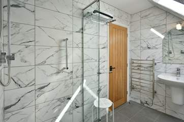 The three wet-rooms are beautifully designed and very stylish. Two are on the first floor along with the bedrooms.
