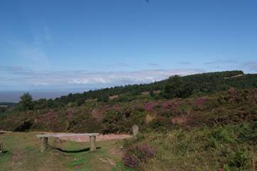 You can see right across the Bristol Channel to south Wales from the top of the Quantock Hills.