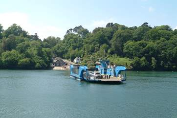 The King Harry Ferry crosses the River Fal to the Roseland peninsula.