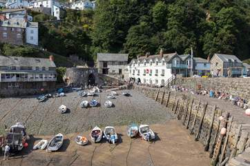 The historic village of Clovelly is well worth a visit.  You do need a ticket to go down to the village (you can cheat and take a landrover drive back up to the top as it is very steep).