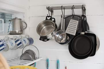 All the pots and pans you need to cook up a feast.