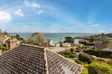 A bird's eye view of this fantastic location overlooking the bay at Coverack.