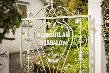 This hand-made gate welcomes you to Carnsullan.