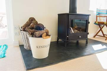 A wood-burner for cosy evenings and wild winter holidays.