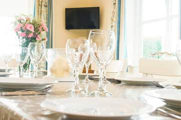 The house is fully kitted out with everything you need for celebration meals together.