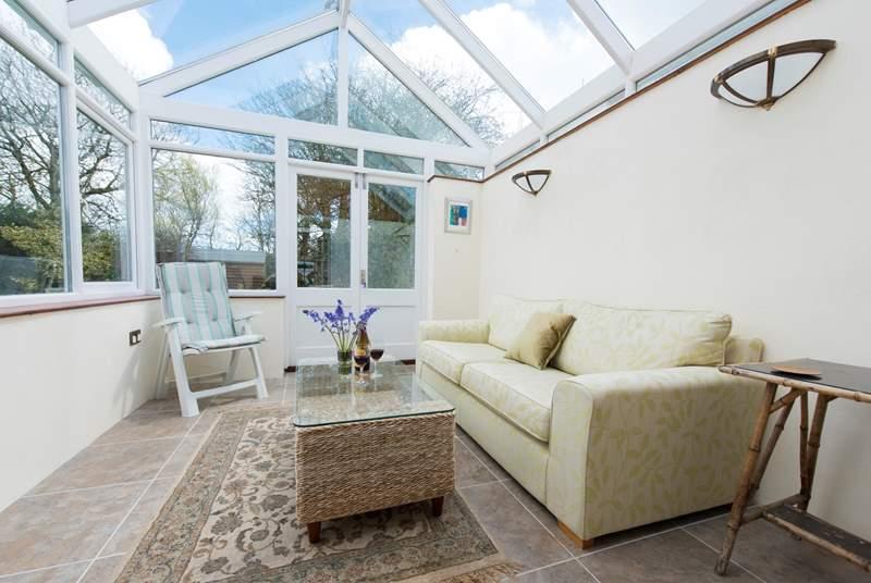 The lovely sunny conservatory.