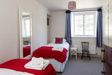 Bedroom 1, the  twin room is perfect for children with its bright colours, both beds are 3ft.