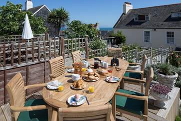 Breakfast on the terrace, what better start to a day doing as you please.