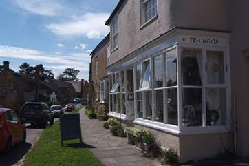 Hinton St George has a fantasic Tea Room - open all year round from 10am in the morning for a range of delicous snacks. Just a two minute stroll from the Retreat.