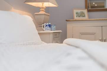 Luxurious White Company bed linens are the icing on the cake.