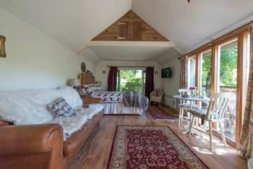 The Cabin at Wrinklers Wood is beautifully presented.