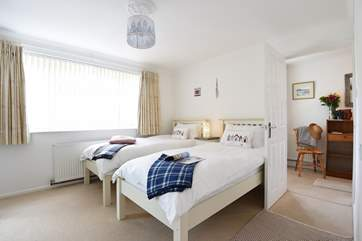 Twin beds in Bedroom 2.