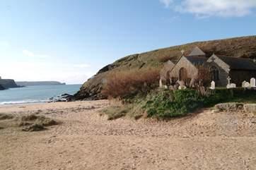 The sandy beach at Church Cove, Gunwalloe is only a short drive away.