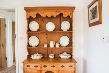 A vintage dresser in the dining-area.
