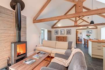 Super comfy living area, with a stunning wood burner perfect for those chillier nights.