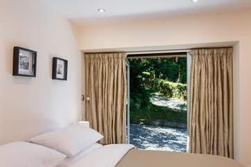 The stunning views which await you from the comfort of your bed (bedroom 2).