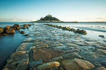 Walk the causeway at low tide to St Michael's Mount.