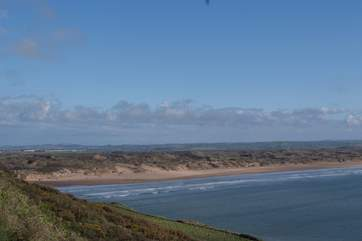 This is Saunton Sands just the other side of Barnstaple, North Devon's main market town.