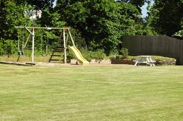 This is the childrens' play area in its own meadow - shared with the two other cottages here.