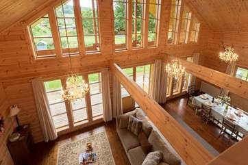 A bird's eye view from the mezzanine area - where there is a snug and then the master bedroom.