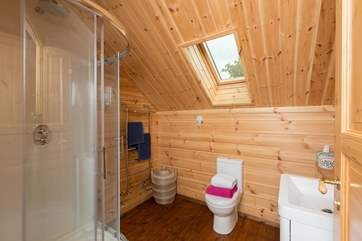 This is the en suite shower-room for the master bedroom - another excellent sized room in this very well planned and thought out Lodge.