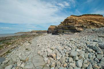 This is the beach at Kilve - Somerset's Jurassic Coast.