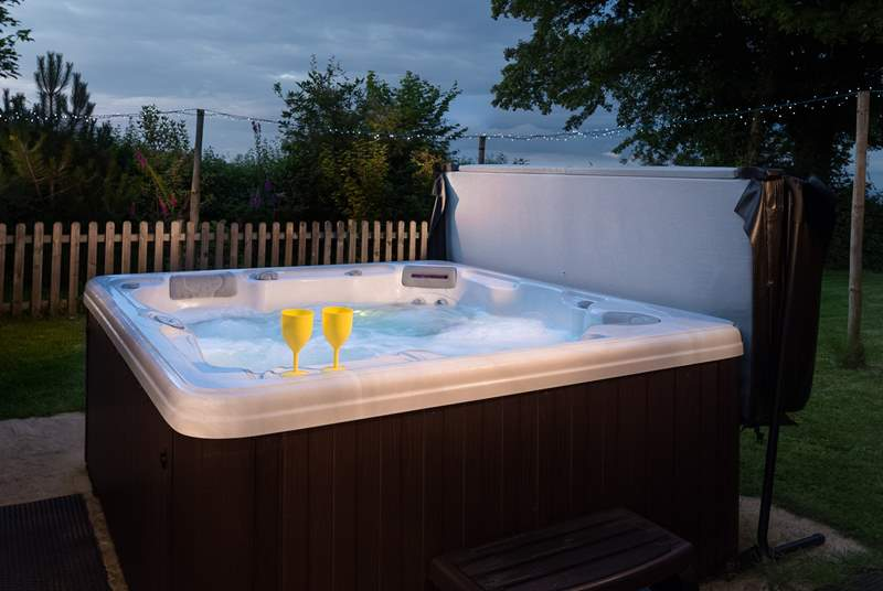 There is a wonderful hot tub where you can sit beneath the stars at the end of a day out exploring in the hills.