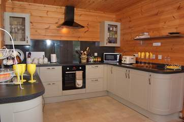 There is a fantastically equipped kitchen - a real home-from-home where everything has been thought of.