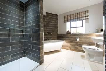 The gorgeous modern bathroom.