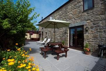 The sunny terrace.