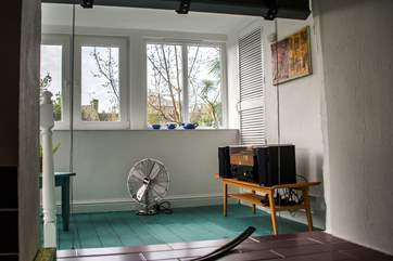 The sun-room.