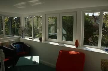 The sun-room, looks towards Morrab Gardens.