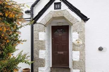 The front door of the cottage.