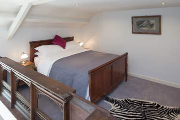 A large comfy double bed.