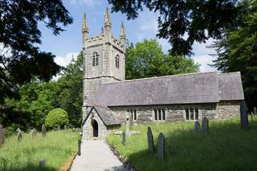 Nearby Sampford Spiney Church is worth a look.