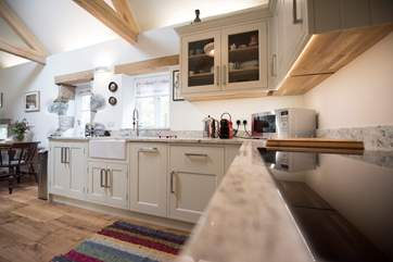 The bespoke kitchen.