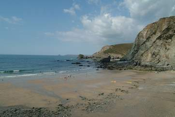 Trevaunance Cove is only a two minute walk from the cottage.