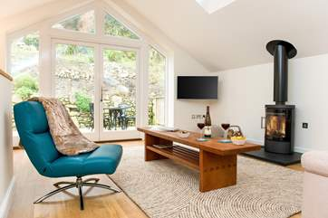 The fabulous wood-burner makes this an ideal retreat all year round