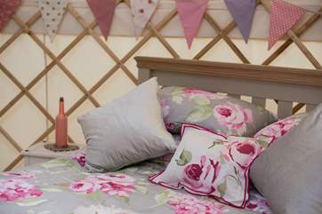 Very pretty bed linens.